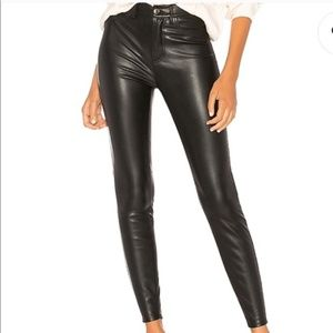 Free People Long & Lean Faux Leather Pant